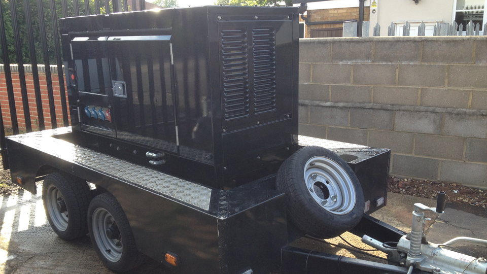 Staffordshire Stage Hire 20KVA Ultra Silent Road Towable Diesel Generator