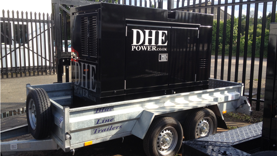 Staffordshire Stage Hire 60KVA Ultra Silent Road Towable Diesel Generator